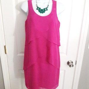 New Ann Taylor magenta mini dress size 4P